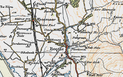 Old map of Barfield in 1925