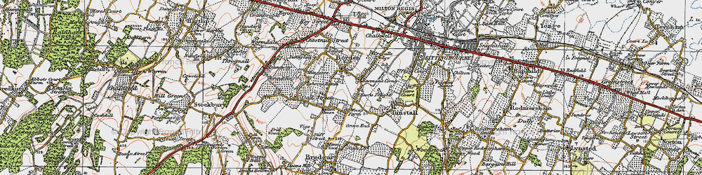Old map of Borden in 1921