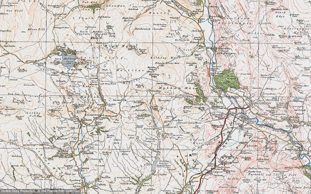 Old Map of Historic Map covering Bark Plantn in 1925