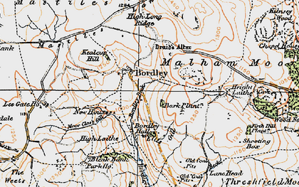 Old map of Bark Plantn in 1925