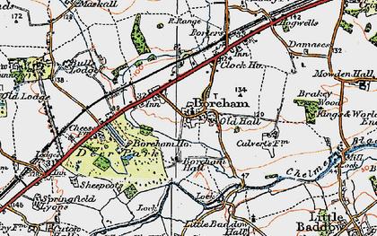 Old map of Boreham in 1921