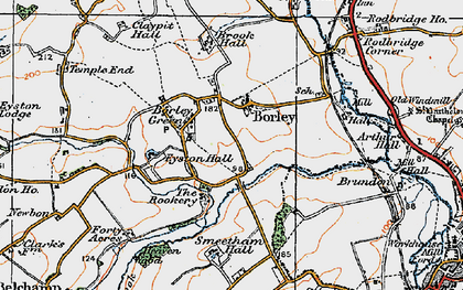 Old map of Borley in 1921