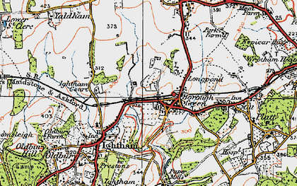 Old map of Borough Green in 1920