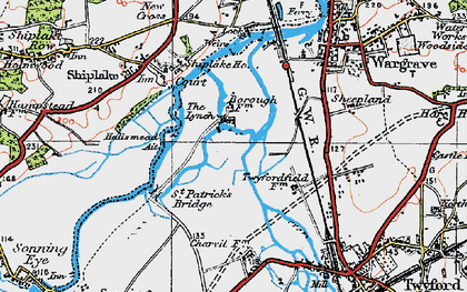 Old map of Borough Marsh in 1919
