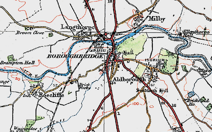 Old map of Boroughbridge in 1925