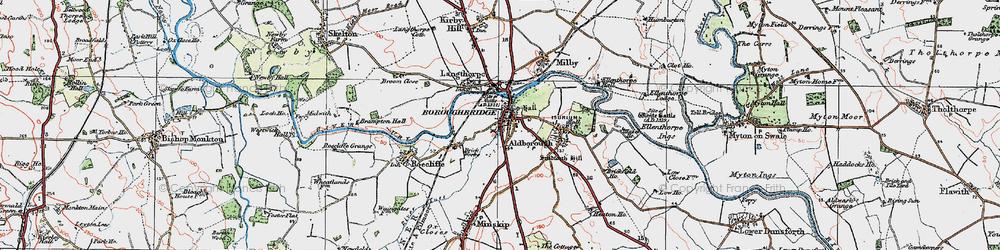 Old map of Boroughbridge in 1925