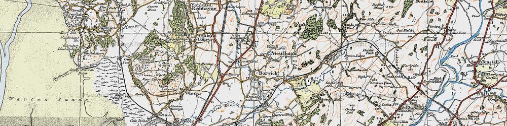 Old map of Borwick in 1924