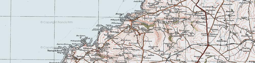Old map of Boscastle in 1919