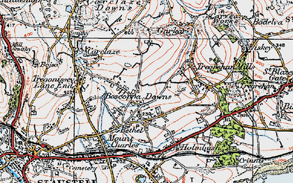 Old map of Boscoppa in 1919