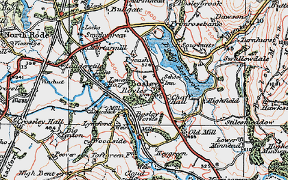 Old map of Bosley in 1923