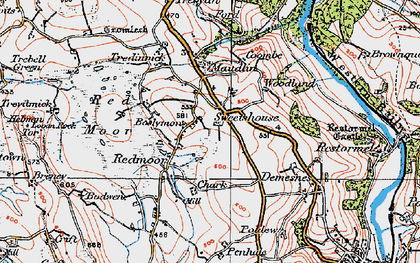 Old map of Boslymon in 1919