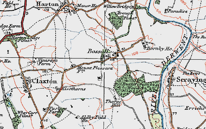 Old map of Aldby Field Ho in 1924