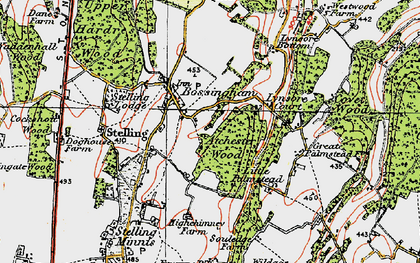 Old map of Atchester Wood in 1920