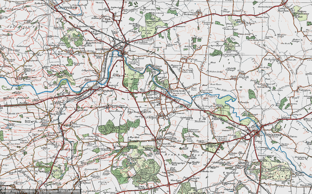 Old Map of Boston Spa, 1925 in 1925