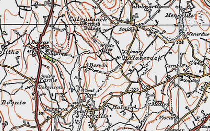Old map of Boswin in 1919