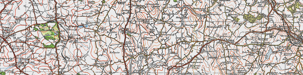 Old map of White Alice in 1919