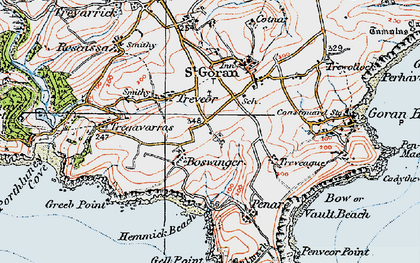 Old map of Boswinger in 1919