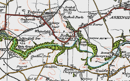 Old map of Whitefield in 1925