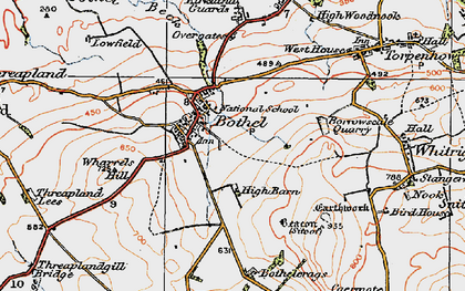 Old map of Wharrels Hill in 1925