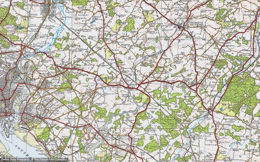 Old Map of Botley, 1919 in 1919