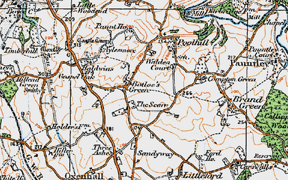 Old map of Botloe's Green in 1919