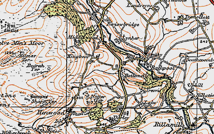 Old map of Botternell in 1919
