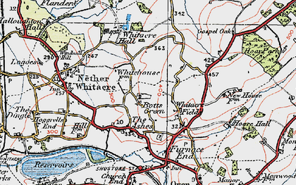 Old map of Whitacre Fields in 1921