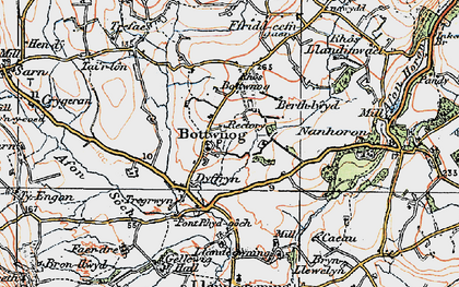 Old map of Llandegwning in 1922