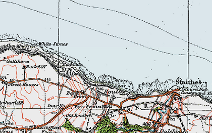 Old map of Boulby in 1925