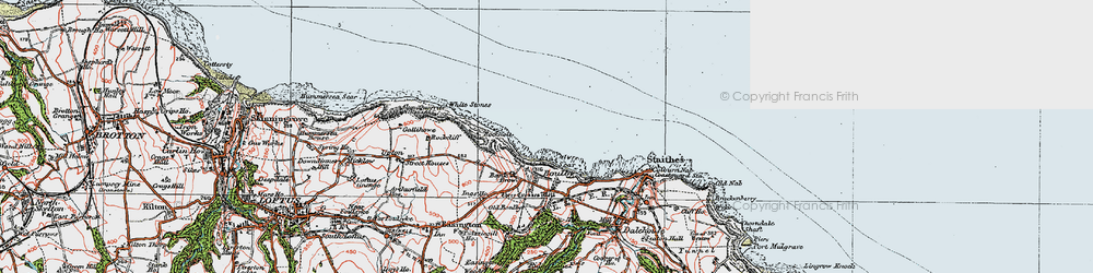 Old map of White Stones in 1925
