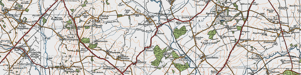 Old map of Westcote Brook in 1919
