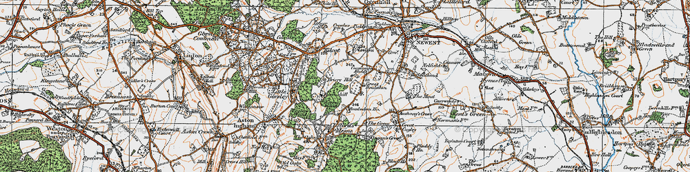 Old map of Acorn Wood in 1919
