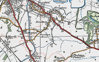 Old map of Boulton in 1921