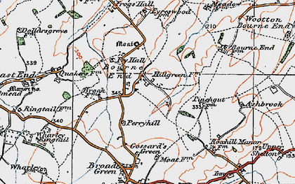 Old map of Bourne End in 1919