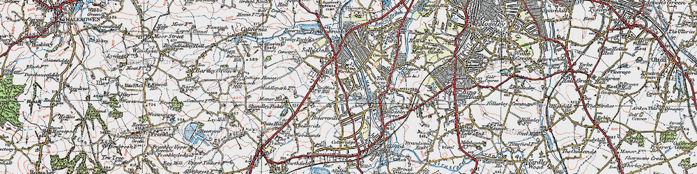 Old map of Bournville in 1921