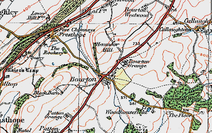 Old map of Woodhousefield in 1921