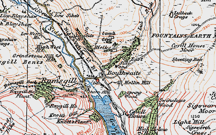 Old map of Light Hill in 1925