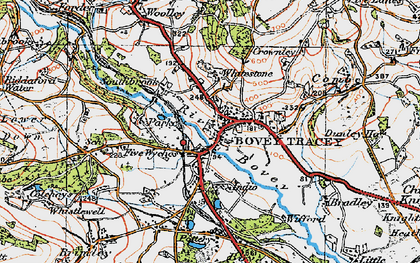 Old map of Whitstone Ho in 1919
