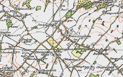 Old map of Bovingdon in 1920