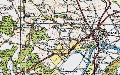 Old map of Bovingdon Green in 1919