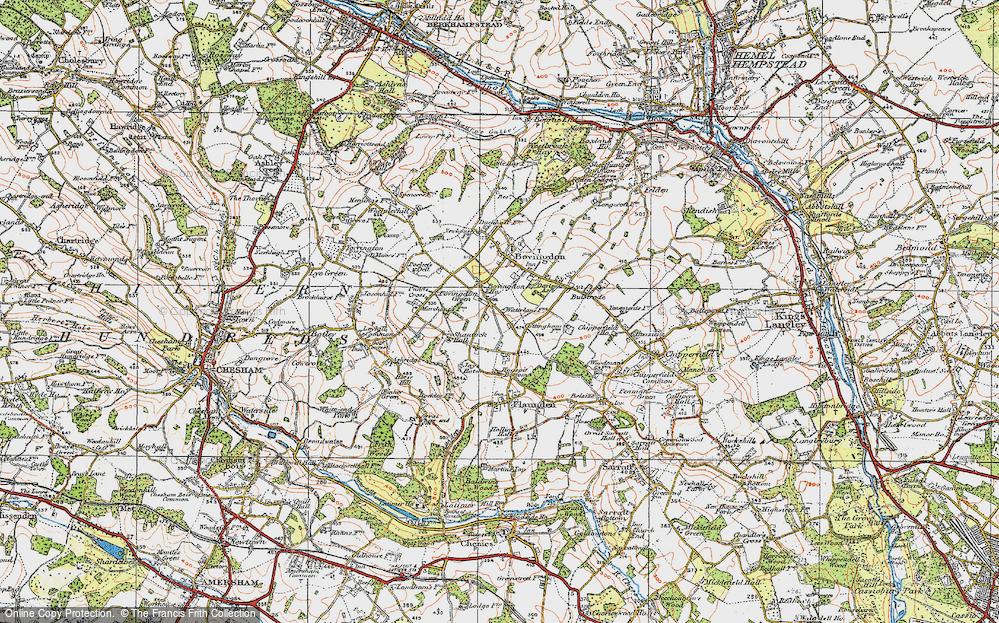 Old Map of Bovingdon Green, 1920 in 1920