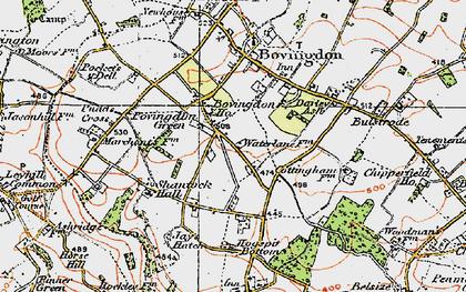 Old map of Bovingdon Green in 1920