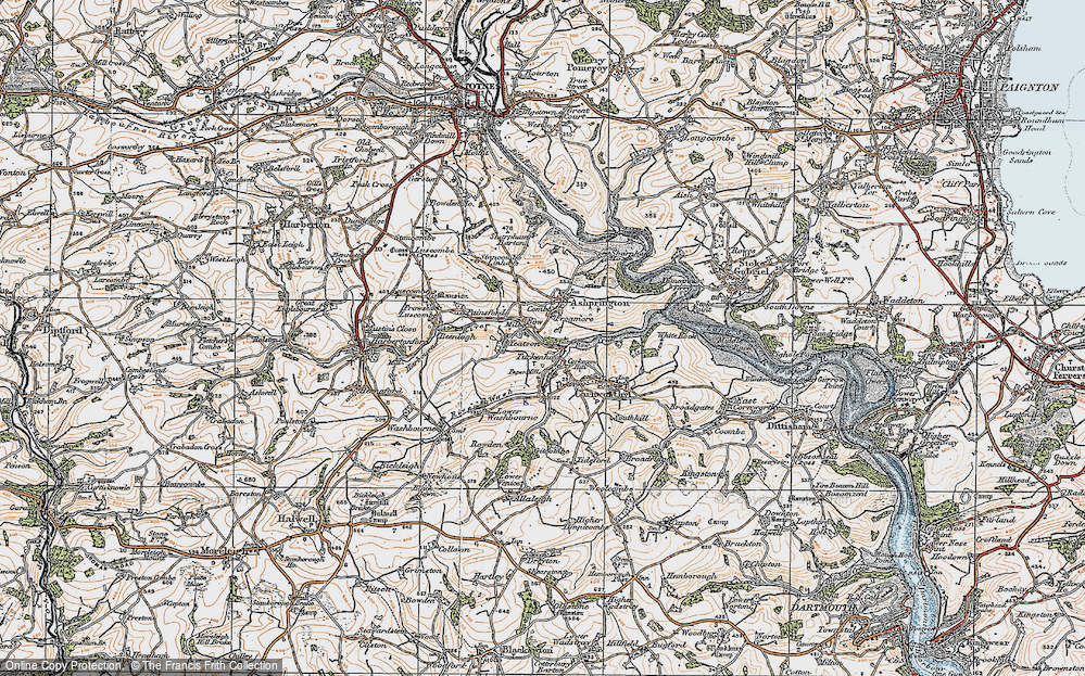 Old Map of Bow, 1919 in 1919