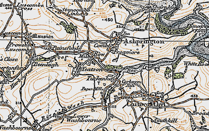 Old map of Yetson in 1919