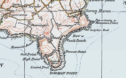 Old map of Bow in 1919