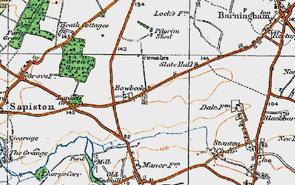 Old map of Lanket's Grove in 1920