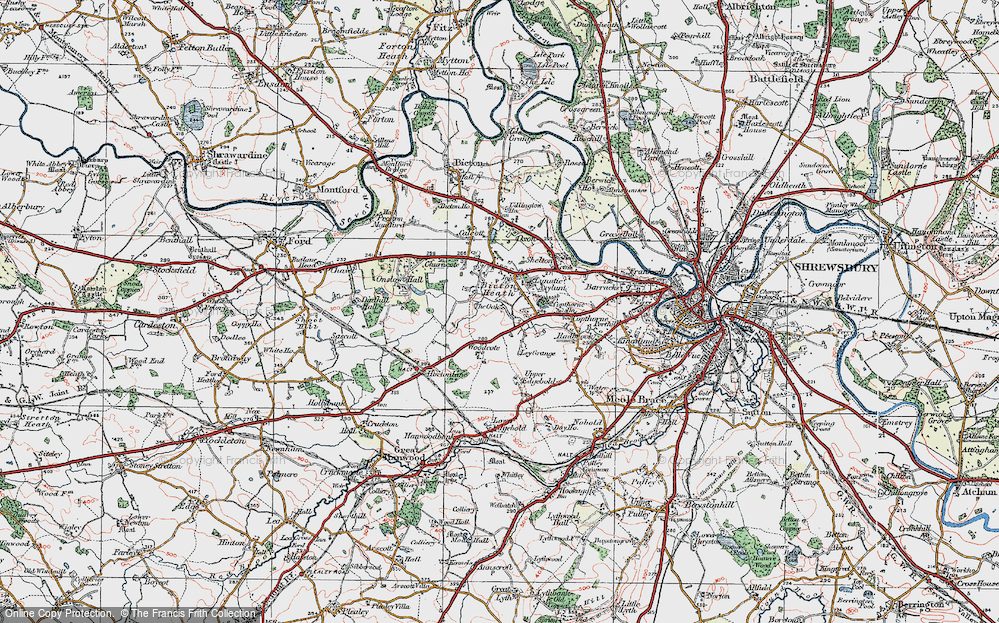 Old Map of Historic Map covering Ley Grange in 1921
