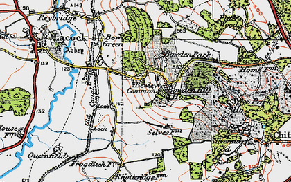 Old map of Bowden Hill in 1919