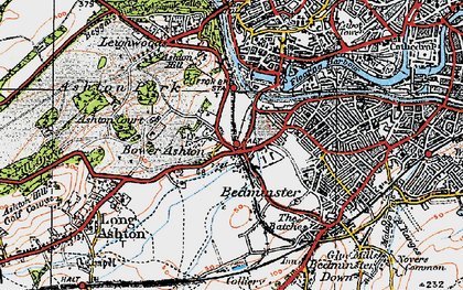 Old map of Bower Ashton in 1919