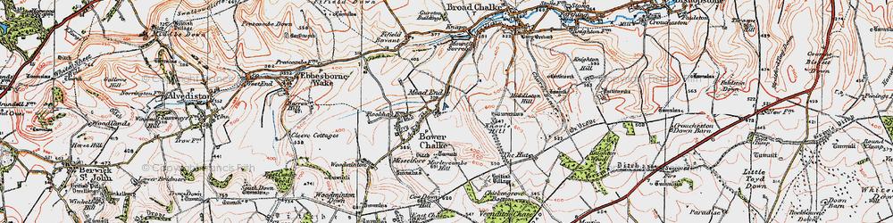 Old map of Bowerchalke in 1919